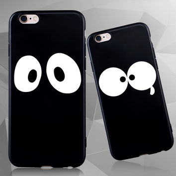 Black Super Cute Silicone cover for iPhone