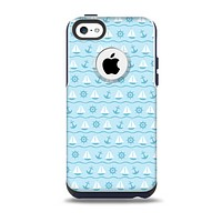 The Subtle Nautical Sailing Pattern Skin for the iPhone 5c OtterBox Commuter Case
