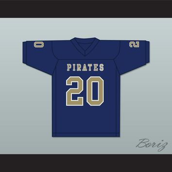 Kingston Davis 20 Independence Community College Pirates Dark Blue Football Jersey