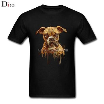 Paint Of Pitbull Dog T Shirt