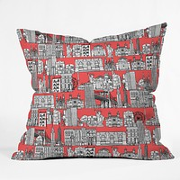 Sharon Turner New York Coral Throw Pillow