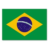 Patriotic table card with Flag of Brazil