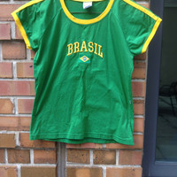 Brazil Tee Shirt From Boutique In Brazil (Small/Indie Brands)