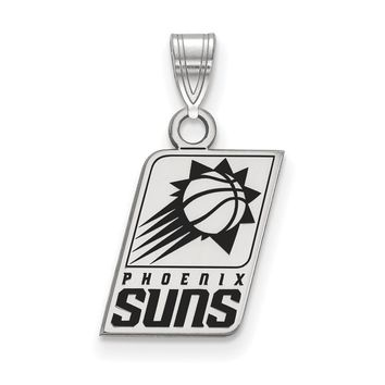 NBA Phoenix Suns Small Logo Pendant in Sterling Silver