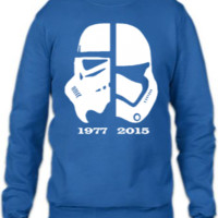 star wars 1977 2015 The Force Awakens - Crewneck Sweatshirt