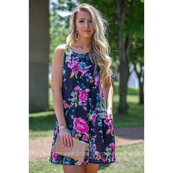 Linda Sleeveless Floral Dress