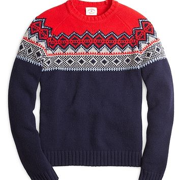 Fair Isle Crewneck Sweater - Brooks Brothers