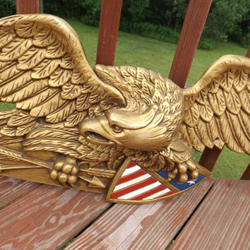 Huge metal american eagle patriotic from huntwithjoy on etsy - Massieve decoratieve tuin ...