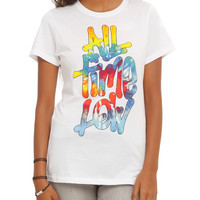 All Time Low Tie Dye Logo Girls T-Shirt