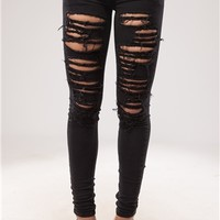 Kate Black Ripped Distressed Jeans at misspap.co.uk