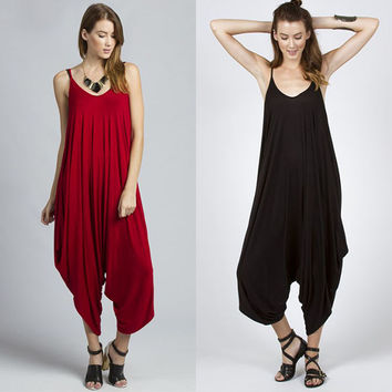 Sexy Jumpsuit 2017 Plus Size Jumpsuits And Rompers For Women Loose Fold Short Halter Siamese Trousers Rompers Womens Jumpsuit