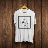 the 1975 band logo shirt tshirt t-shirt 5sos shirt tshirt t-shirt black white blue and gray colors