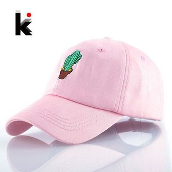 LMFG8W Spring Women's Cap Snapback Pink Cactus Embroidery Dad hat Men's Summer Baseball Caps Hip Hop hats For Girls Casquette Homme
