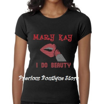 Mary Kay I do Beauty Rhinestone/Vinyl Combination Shirt