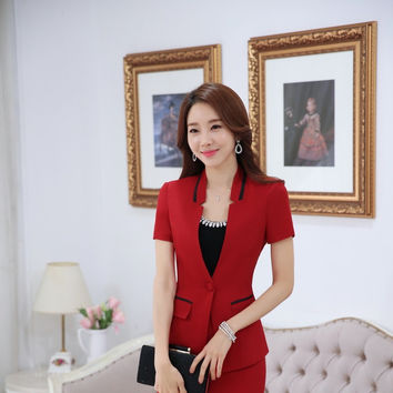 Novelty Red Fashion OL Styles Professional Business Women Blazers Jackets Female Outwear Blaser Tops Plus Size 4XL