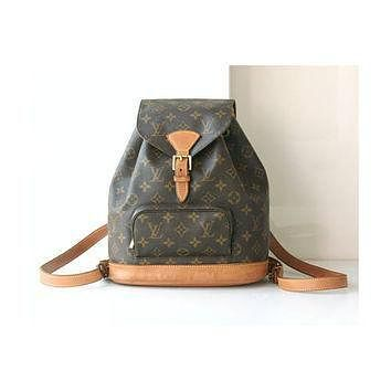 Tagre™ Louis Vuitton Backpack Monogram Montsouris Bag France MM Vintage Authentic Handbag