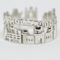 Los Angeles Cityscape Statement Ring