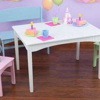 Cape Cod Pastel Bench Table & Chair Set