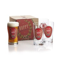 Hoppy Holidays Beer Glasses Set of Four