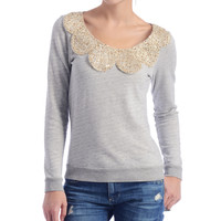 Big Star Beaded Neck Sweatshirt