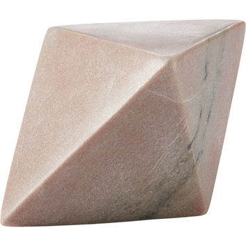 pink marble bookend