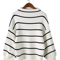 White Stripe Jumper