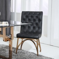 Modrest Rosie Modern Black & Rose Gold Dining Chair
