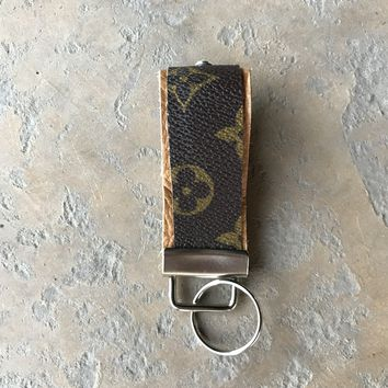 Key Fob from Upcycled Louis Vuitton/LV Monogram