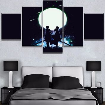 Cool Attack on Titan 5 Piece HD Print  Anime Modern Decorative Paintings on Canvas Wall Art for Home Decorations Wall Decor Artwork AT_90_11