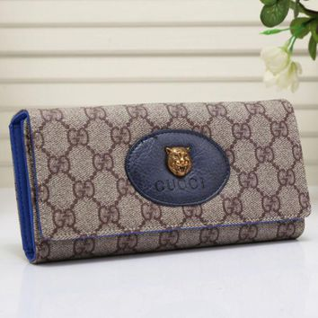 One-nice™ Gucci Women Leather Shopping Buckle Purse Wallet