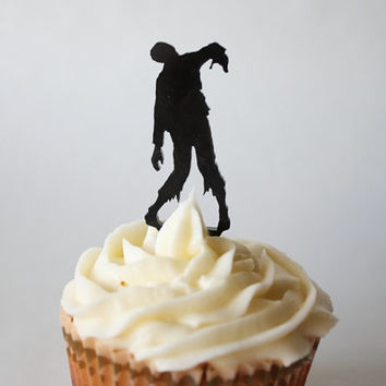 6 Zombie Cupcake Toppers (Acrylic)