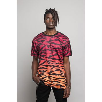 Dip Dye Gradient Tiger T-Shirt TS7311 - BB14F