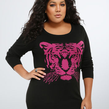 Tiger Drop Shoulder Sweater