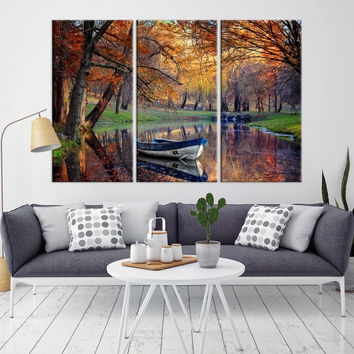 58419 - Forest Wall Art- Autumn Canvas Print- Forest Canvas- Forest Canvas Art- National Art Print- Canvas Print- Large Wall Art-