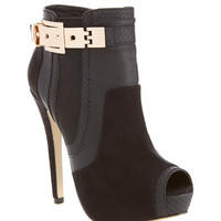 Bobbi Gold Buckle Boot - Shoes