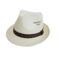 Mechaly Women's Ivory Fedora Vegan Hat