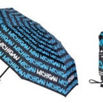 Michigan Classic Text Umbrella