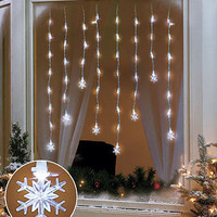 LED Window Icicle String Snowflakes Lights Christmas Holiday Home Decor New