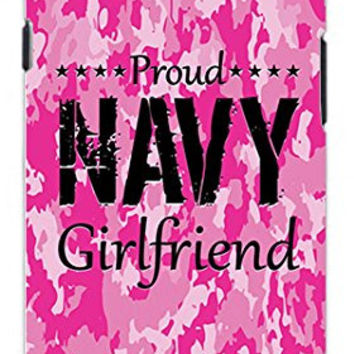 The Best Camo Pink Proud Navy Military Girlfriend Camouflage Direct UV Printed Unique Quality Hard Snap On Case for Samsung Galaxy S4 I9500 - White Case