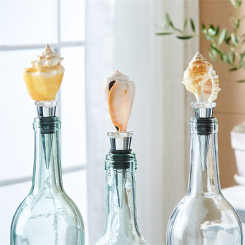 Genuine Sea Shell Wine Bottle Stopper