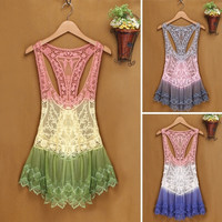 Women Vintage Lace Floral Sleeveless Crochet Knit Vest Tank Top Shirt Beige hot F_F = 1902428804