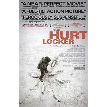 Hurt Locker The Movie poster Metal Sign Wall Art 8in x 12in
