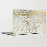 Gold marble Laptop & iPad Skin by Marta Olga Klara