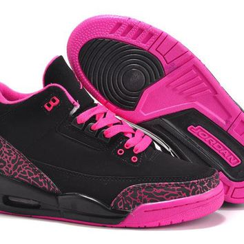 Women Air Jordan 3 Girls Size Black Pink Online Jordan 3 Black Pink - Beauty Ticks