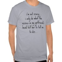 Funny Boyfriend Shirt, Not crazy, voices in head!