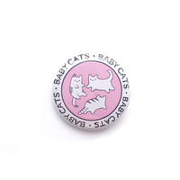 "Magical Baby Cats 1.5"" Pinback Button -  Pastel Pink Kittens Illustration Pin/Badge - by Sparkle Collective"