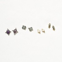 Free People Womens Meaningful Stone Stud Set