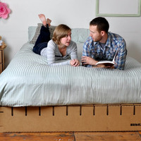 Bedigami, The Cardboard Platform Bed.