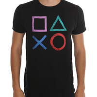 PlayStation Controller Symbols T-Shirt