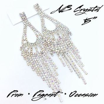 "5"" AB Crystal Occasion Earrings"